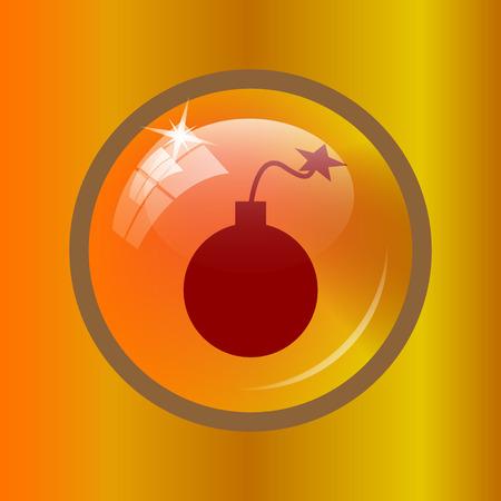 dinamita: Bomb icon. Internet button on colored background.