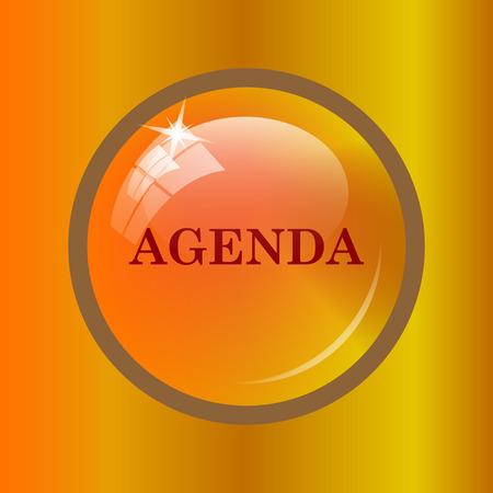 agenda: Agenda icon. Internet button on colored background. Stock Photo