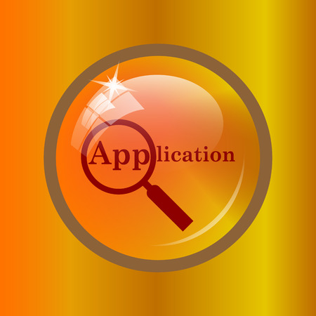 Application icon. Internet button on colored background. Stock Photo