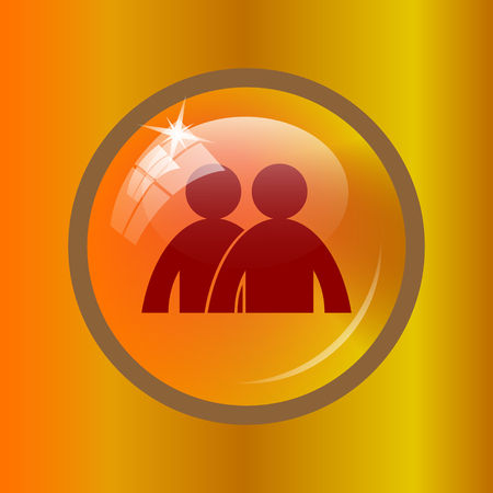 Forum icon. Internet button on colored background. Stock Photo