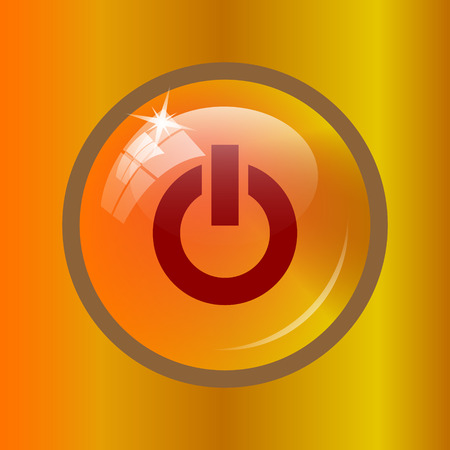 Power button icon. Internet button on colored background.