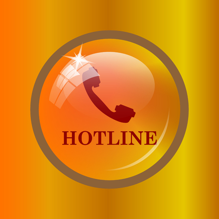 hotline: Hotline icon. Internet button on colored background.