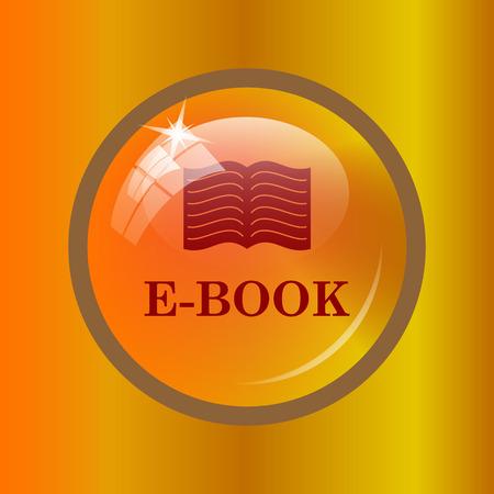 E-book icon. Internet button on colored background.