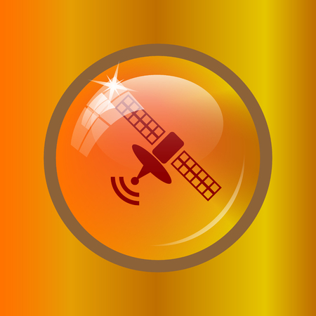 world receiver: Antenna icon. Internet button on colored background.