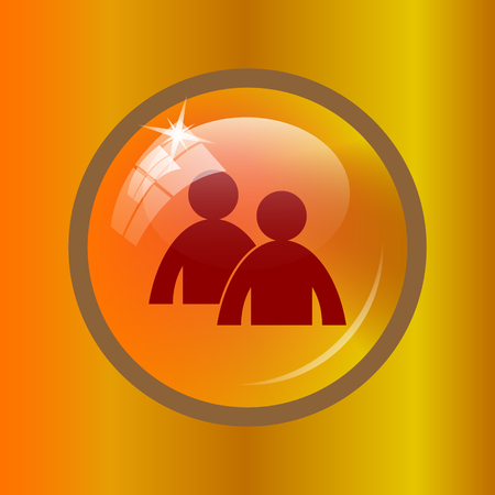 Mentoring icon. Internet button on colored background. Stock Photo