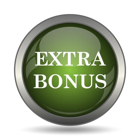 extra money: Extra bonus icon. Internet button on white background.