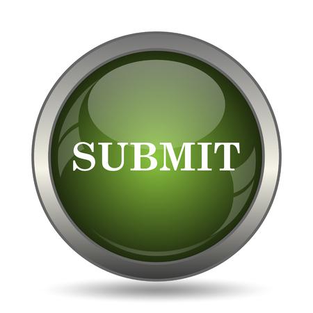 submit: Submit icon. Internet button on white background.