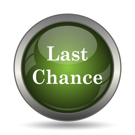last: Last chance icon. Internet button on white background. Stock Photo