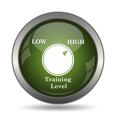 cognicion: Training level icon. Internet button on white background. Foto de archivo