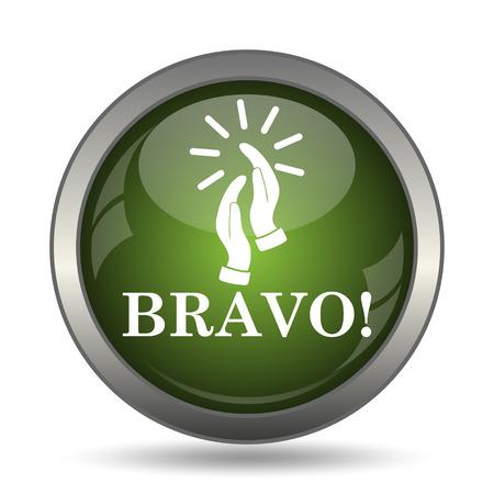 bravo: Bravo icon. Internet button on white background.