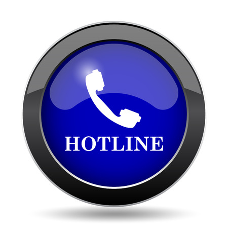 hotline: Hotline icon. Internet button on white background. Stock Photo