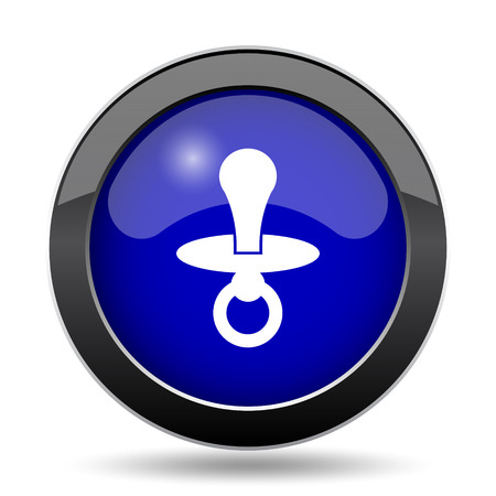 Pacifier icon. Internet button on white background. Stock Photo