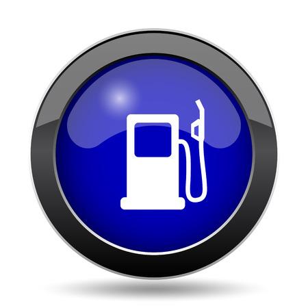 Gas pump icon. Internet button on white background.