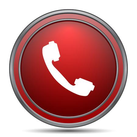 phone button: Phone icon. Internet button on white background. Stock Photo