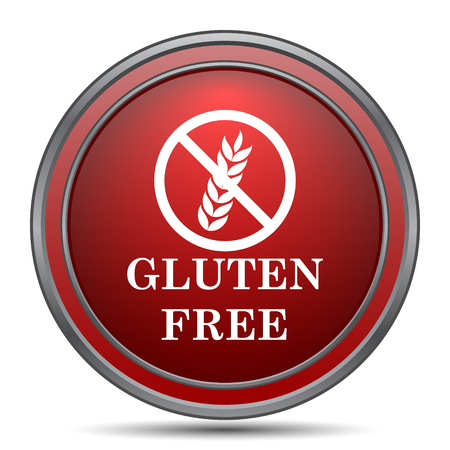 celiac: Gluten free icon. Internet button on white background.