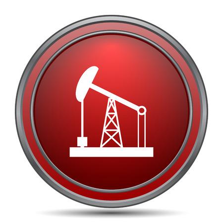 red drum: Oil pump icon. Internet button on white background.