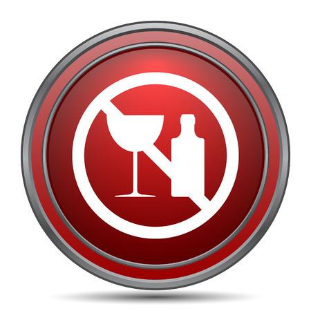 No alcohol icon. Internet button on white background.
