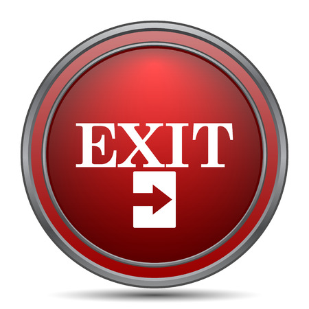 exit icon: Exit icon. Internet button on white background.
