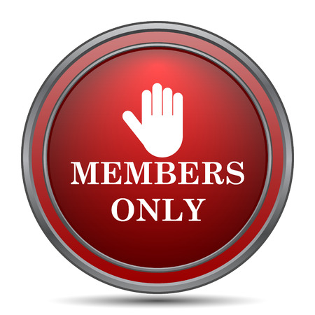 restricted access: Members only icon. Internet button on white background.
