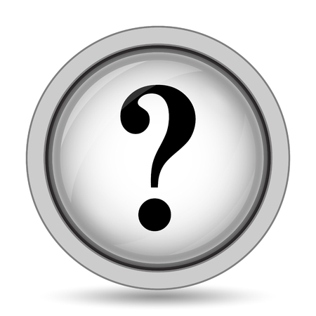 Question mark icon. Internet button on white background.