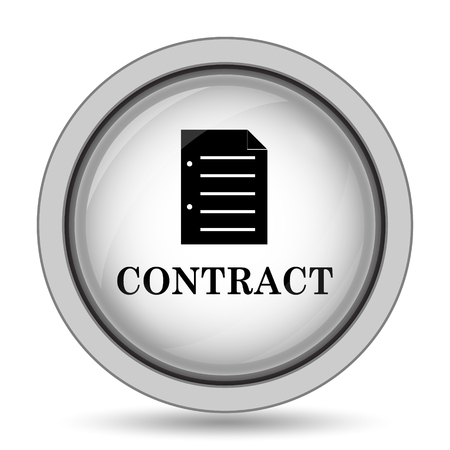 companion: Contract icon. Internet button on white background.