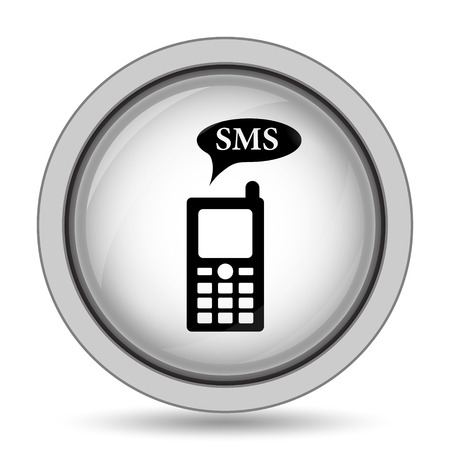 gsm phone: SMS icon. Internet button on white background.