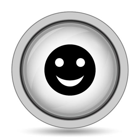 smily face: Smiley icon. Internet button on white background.