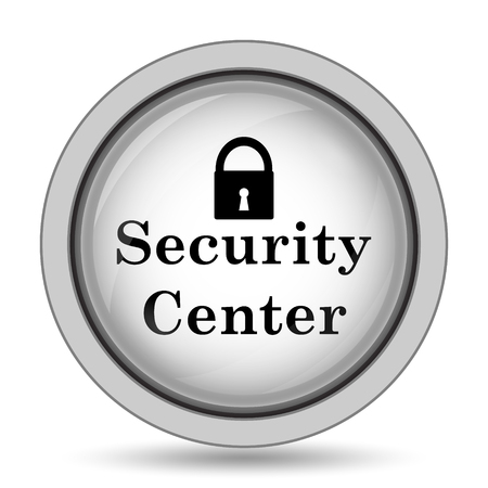 protected database: Security center icon. Internet button on white background.