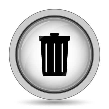 sewage: Bin icon. Internet button on white background. Stock Photo