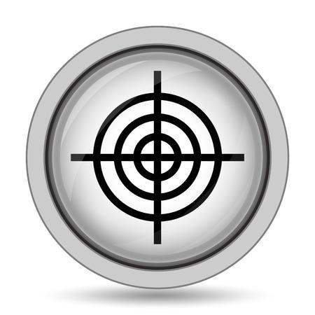 dart board: Target icon. Internet button on white background.