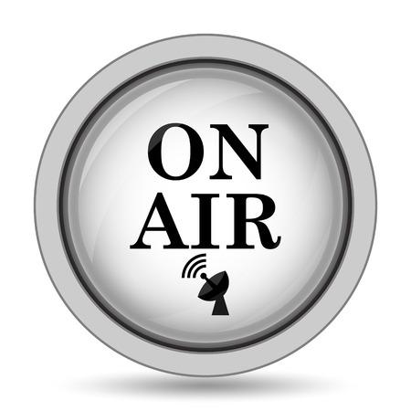 On air icon. Internet button on white background. Stock Photo