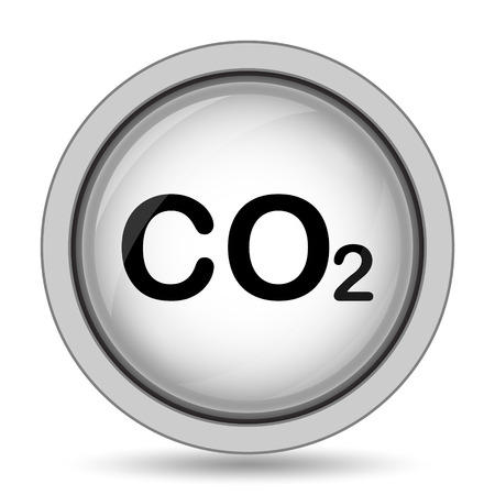 co2 emissions: CO2 icon. Internet button on white background.