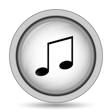 melodic: Music icon. Internet button on white background.