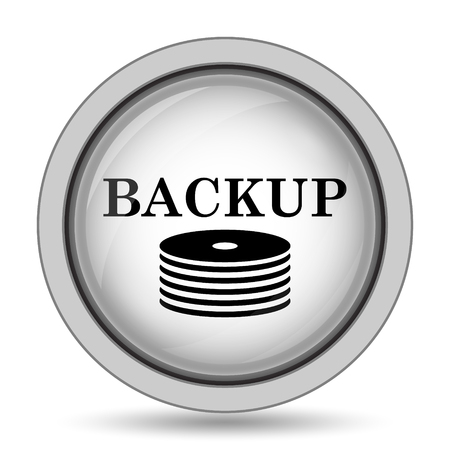 hard drive: Back-up icon. Internet button on white background.