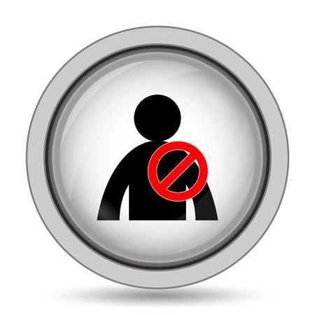 User offline icon. Internet button on white background.
