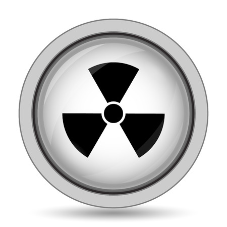 hazardous substances: Radiation icon. Internet button on white background.