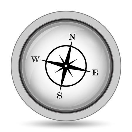 geodesy: Compass icon. Internet button on white background.