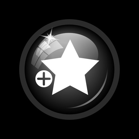 preference: Add to favorites icon. Internet button on black background.