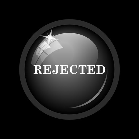 rejected: Rejected icon. Internet button on black background.