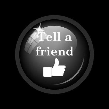 recommendations: Tell a friend icon. Internet button on black background.