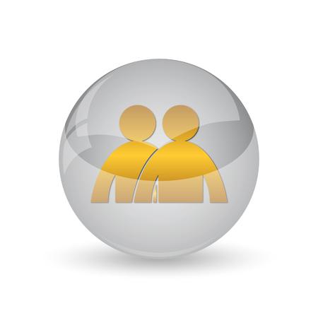 administrador de empresas: Forum icon. Internet button on white background. Foto de archivo