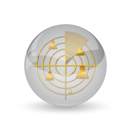 Radar icon. Internet button on white background. Stock Photo