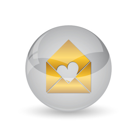 Send love icon. Internet button on white background.
