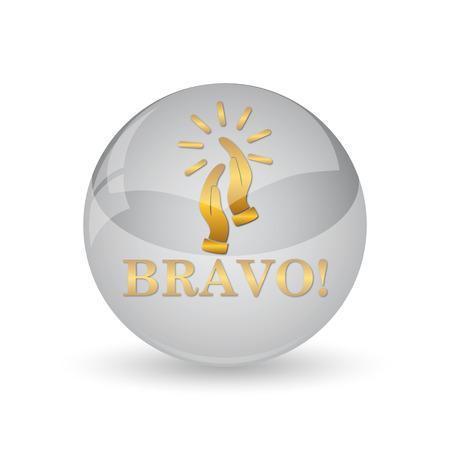 Bravo icon. Internet button on white background.
