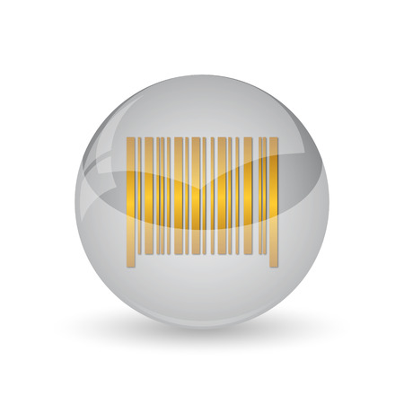 Barcode icon. Internet button on white background.