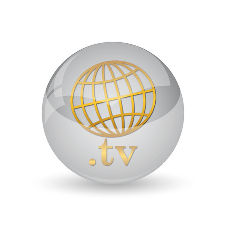 .tv icon. Internet button on white background.
