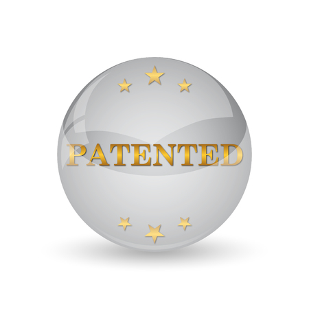 plagiarism: Patented icon. Internet button on white background.