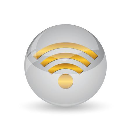 Wireless sign icon. Internet button on white background.