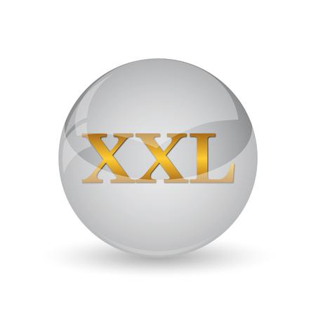 clothe: XXL  icon. Internet button on white background. Stock Photo