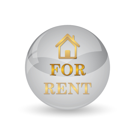 For rent icon. Internet button on white background. Stock Photo